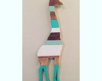 Wooden Giraffe Silhouette