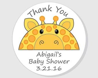 Office & School Supplies 1.5inch Cute Safari Giraffe Girl Baby Shower Stickers