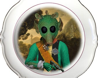 Lord Greedo - Star Wars - Vintage Porcelain Plate - #0485