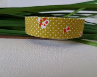 Fabric tape/tape fabric yellow flowers