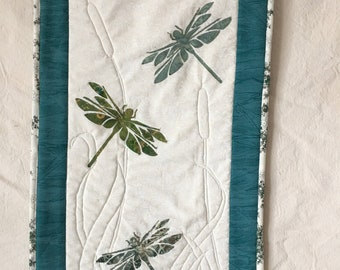 Dragonfly wall hanging, quilt
