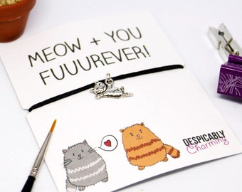 Cat bracelet, cat jewellery, cat lover gift, gift for cat lovers, cat charm, cat jewellery, cat friendship bracelet, cat lover, cat lady