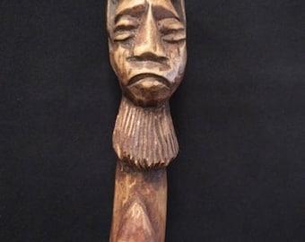 Carved Wooden Walking Stick