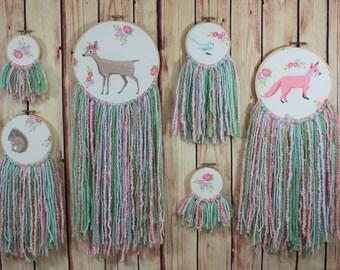 Woodland Nursery Decor-Boho Nursery-Baby Girls Room-Little Girls Room-Girls Nursery Decor-Rustic Nursery-Baby Shower Gift-Deer-Fox-Floral