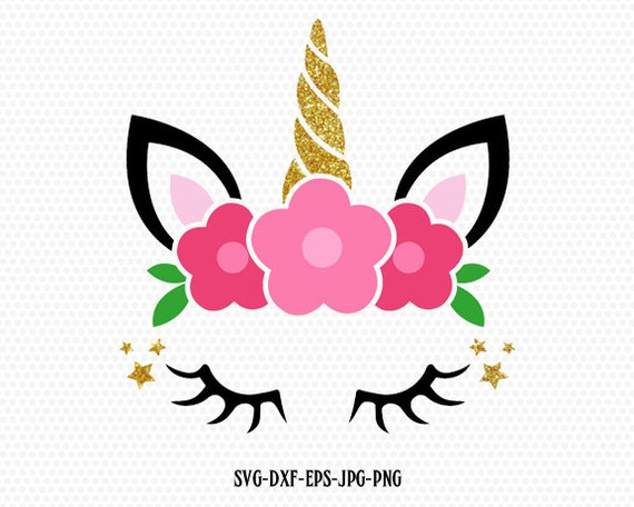 Unicorn SVG Unicorn Birthday Svg Unicorn Head Svg Unicorn