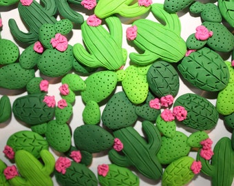 Cactus Refrigerator Magnets — Handmade Polymer Clay — Cute Decorative Magnet — Party Favors