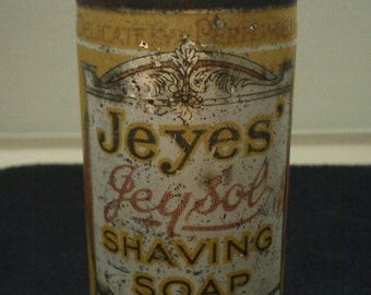 Jeyes Jeysol Shaving Soap Tin