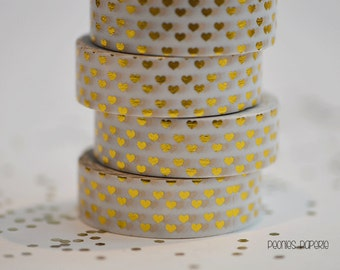 Gold Hearts Foiled Washi Tape Planner Accessories for your Kate Spade Erin Condrin Filofax