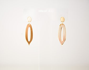 Gold Mirror Acrylic Drop Earrings