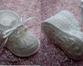 Cheryl's Crochet  CC79 Baby Dainty First Booties PDF Download Crochet Pattern
