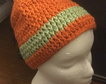 Carrot and sage colored Beanie