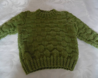 Green lime round neck sweater size 2 years