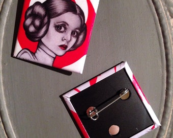 Princess Leia Square Button
