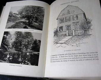 Wallace Nutting Copyright 1923 Connecticut Beautiful Book - Wallace Nutting 1923 Edition Connecticut Black and White Portfolio Book