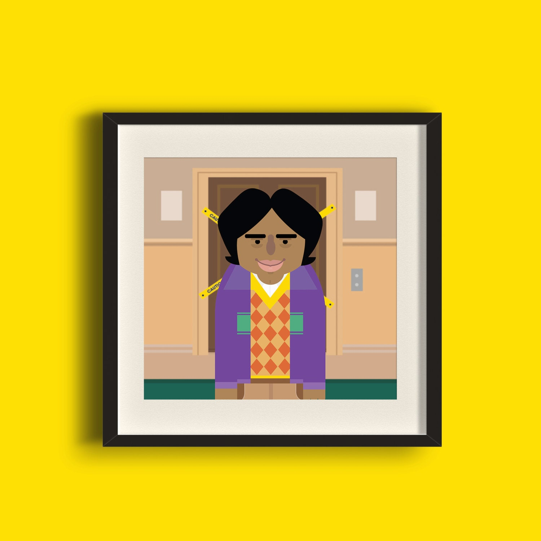 Raj Koothrappali Big Bang Theory Art Print