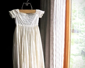 Antique Baby Christening Gown, Baby Christening Dress, 1800's Dress, Antique White Baby Dress, Cotton Baby Dress, Vintage Baby, Baptism Gown