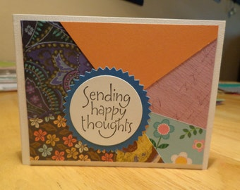 Happy thoughts scrappy card