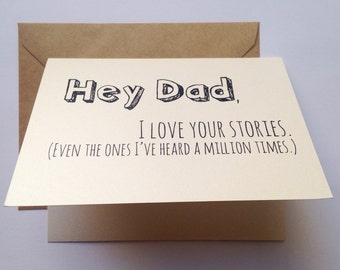 Dad Card - Father's Day Card - Dad Birthday Card - Funny Card - Card for Father - Father's Day