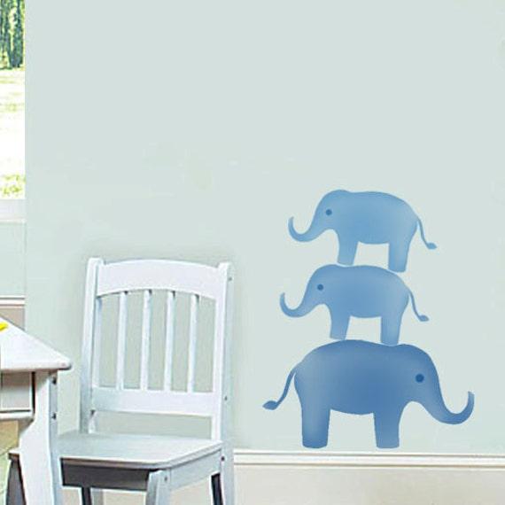 Elefant Kinderzimmer Schablone Kinderzimmer-Wand-Dekor