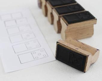 Vintage Domino Rubber Stamps, Vintage Bullet Journal Stamps, Planner Stamps Bullet Journal Accessories, Vintage Rubber Stamp Set