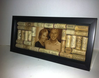 Custom Wine Cork Personalized Frame
