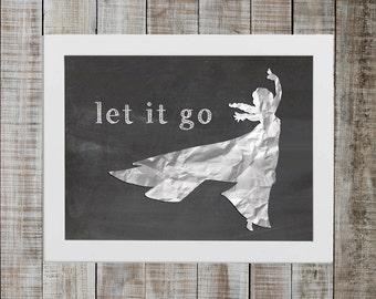 Elsa Frozen Pop Culture Print - 'let it go'