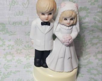 Bride and Groom Figurine or Wedding Cake Topper