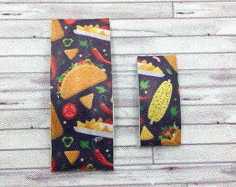 Mexican Fiesta Snap Hair Clips / Faux Leather Mini Snap Hair Clips / Snap Clips / Summer Snap Clip
