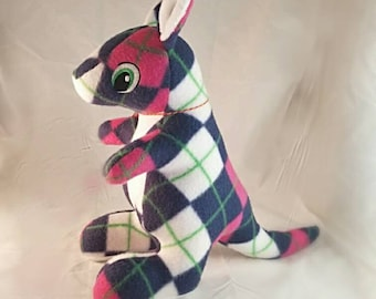 Plaid Stuffed Kangaroo