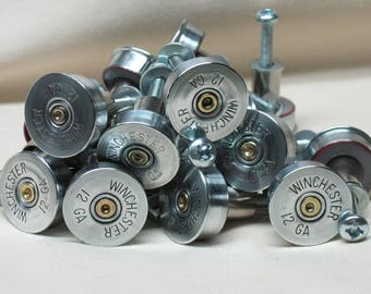 10 Shotgun Shell Cabinet Drawer Knobs, Door Knobs, Drawer Pulls, Home Decor