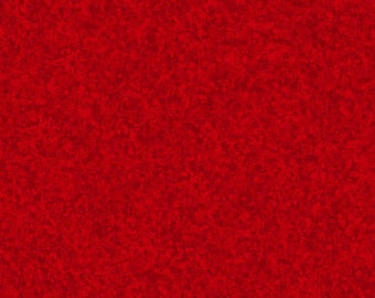 Red Solid Textured Fabric - Quilting Treasures QT Basics Color Blend - 23528 R - Priced by the 1/2 yard
