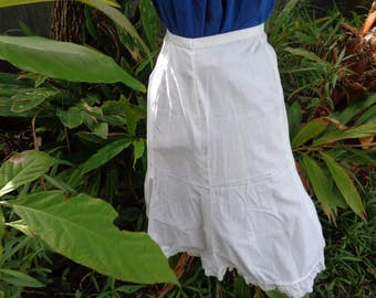 50s 60s White cotton Teens handmade white Petticoat slip size small