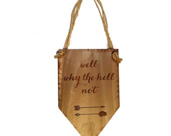 Well Why the H*** Not Wall Hanging