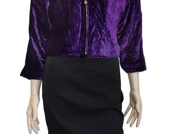 Versace Jeans Couture Vintage Purple Velvet Jacket