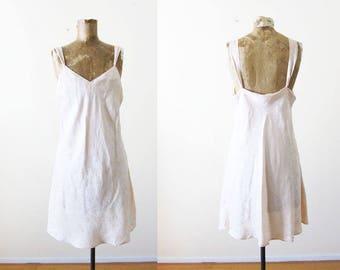 Vintage silk slip - 90s slip dress - vintage nightie - vintage lingerie - pale pink floral silk mini dress - lingerie dress - M