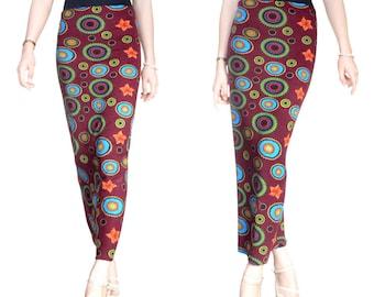 Skirt long wool Jersey (M7)