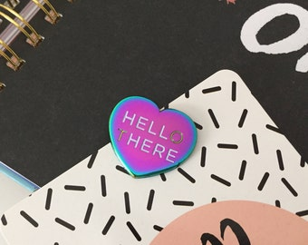 Hell Here Limited Edition Rainbow Metal Variant Pin