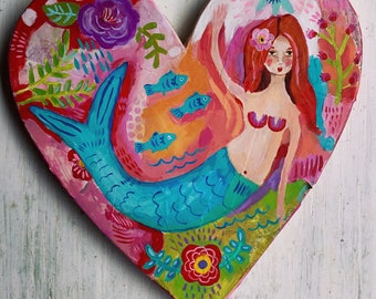Mermaid Mixed Media Painting