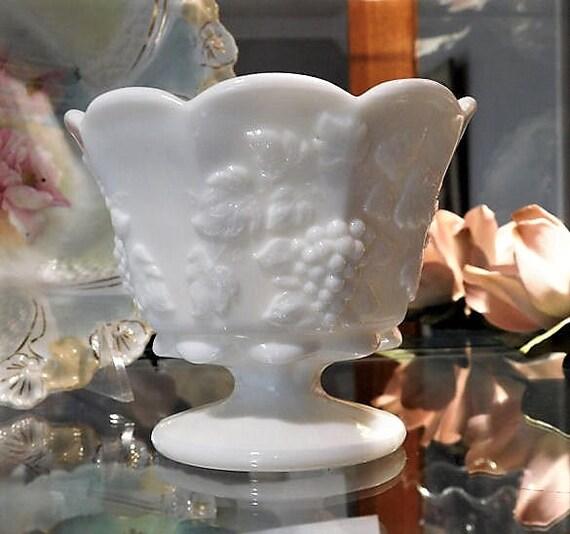 Milk Glass Vase / Paneled Grape / Westmoreland