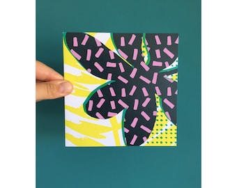 Rubber Plant Greeting Card