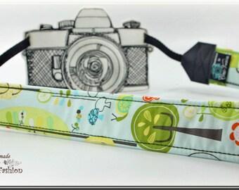Camera strap, DSLR, camerastrap, light yellow, dots, circles