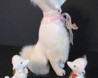 1950s Poodles Dog Artmark Figurines Japan Kitsch Mothers Day