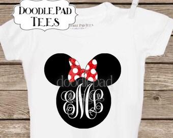 Minnie Mouse Monogram Disney Shirt,