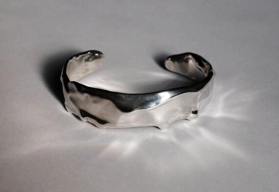 Sterling Silver Melt Cuff