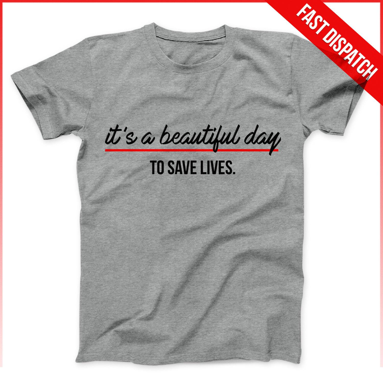 Greys Anatomy Shirt Men grau oder weiß ein schöner Tag zum