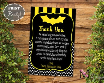 Dr seuss baby shower thank you cards baby shower invitation batman inspired baby boy shower thank you cards baby shower invitation baby shower filmwisefo