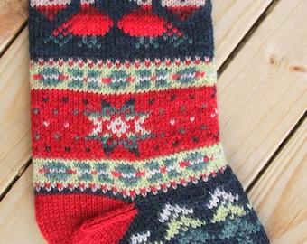Turtledove Christmas Stocking Knit Pattern PDF