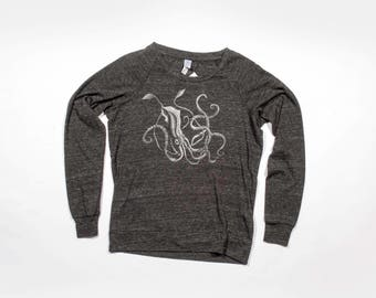 Giant Squid Slouchy Raglan Pullover