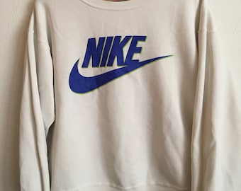 1990s NIKE Distressed Vintage Pullover Sweater // Size Xlarge