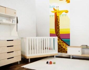 Kids Giraffe Wallpaper Mural - Kids Wall Decor for Baby Nursery or Children's Bedroom